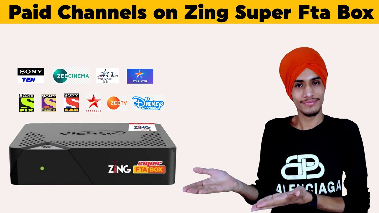 Download Paid channels on Zing super fta box | dish tv