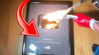 PEWDIEPIE 's Plaque VS Glowing 1000 Degree Knife Experiment