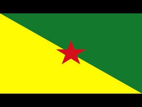 Bandera e Himno de Guayana Francesa (Francia) - Flag and Anthem of French Guiana (France)