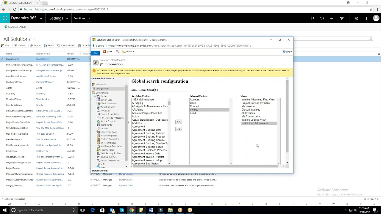 Global Search for Dynamics 365