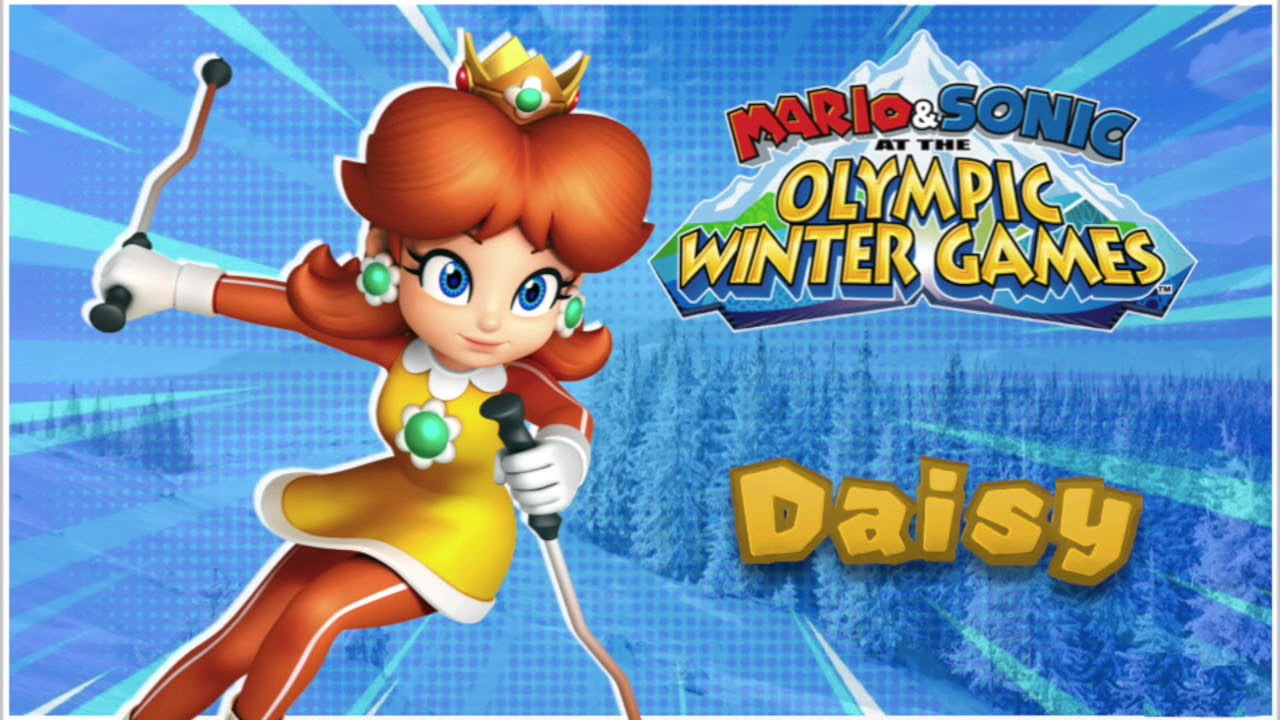 wii mario sonic olympic winter games daisy voice. Black Bedroom Furniture Sets. Home Design Ideas
