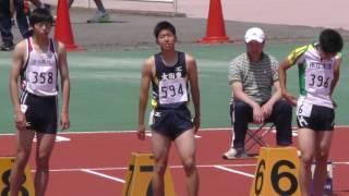 20170519群馬県高校総体陸上男子100m準決勝2組