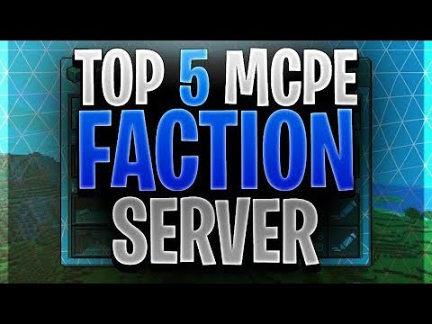 Top 5 Minecraft Pe Faction Servers Best Faction Servers Mcpe V1 8 1 Youtube