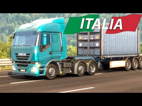 Euro Truck Simulator 2 Italia DLC - Container Trailer from Napoli |