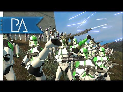 HUGE CLONE WARS BATTLE - Star Wars - Bear Force II Mod Gameplay