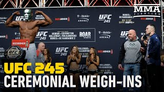 UFC 245 Ceremonial Weigh-In Highlights - MMA Fighting