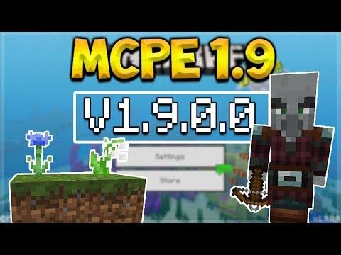 MCPE 1.9 BETA PILLAGERS! Minecraft Pocket edition - NEW Pillager Mob & 40 NEW Blocks