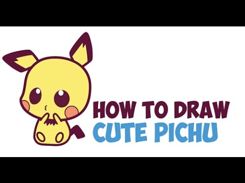 How To Draw Pichu Step By Step For Beginners Easy Cute Kawaii