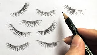 How to Draw Eyelashes like a PRO - Practice with me!