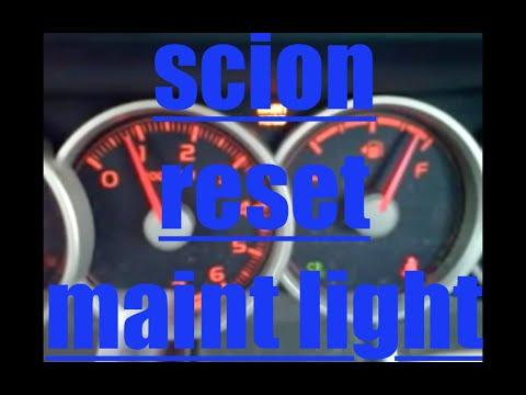 """TRIP """"A"""" Reset oil maintenance light Scion XB√"""