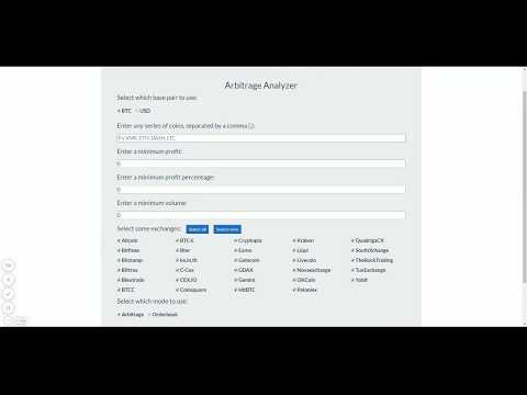2017 Cryptocurrency Altcoin Arbitrage Tool
