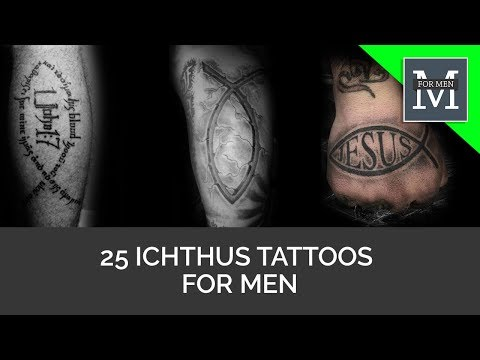 25 Ichthus Tattoos For Men