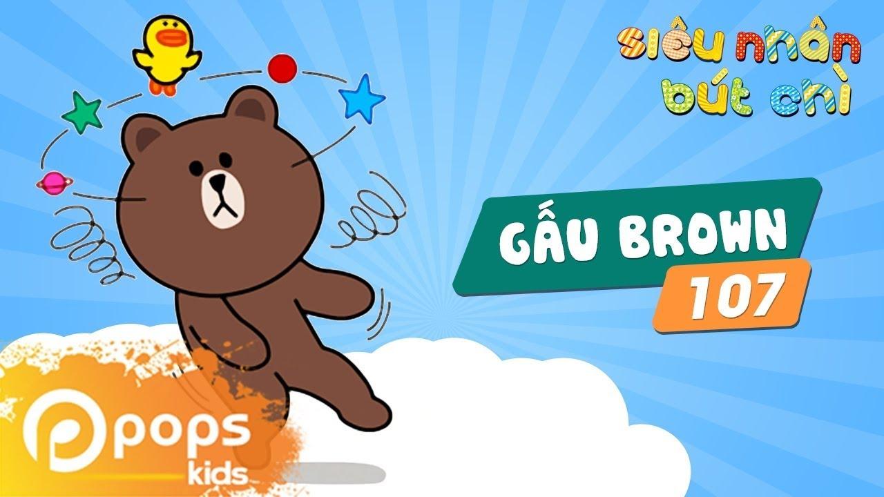 Hướng Dẫn Vẽ Gấu Brown – Siêu Nhân Bút Chì – Tập 107 – How to draw Brown