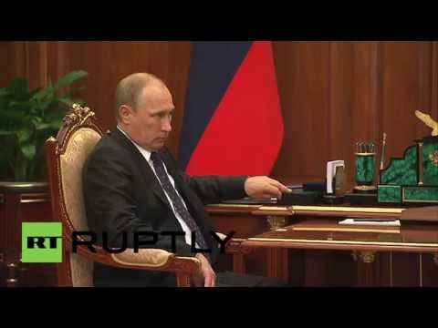 Russia: Putin discusses 15 bln ruble fibre-optic project