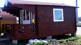 Дачный домик за 2 минуты(Процесс строительства дачного домика своими руками из доски (мини брус) отличное решение для тех кто хочет..., 2015-07-29T11:20:32.000Z)