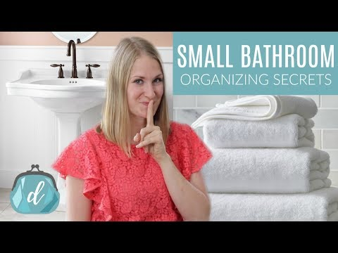 Unique Secrets to Organize a Small Bathroom!