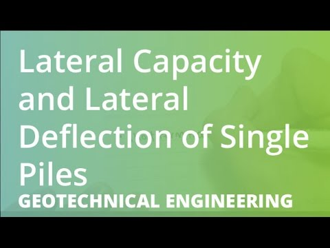 Lateral Capacity and Lateral Deflection of Single Piles | Geotechnical  Engineering