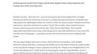 Hbo And Pbs Kids' Sesame Street Reveals Season 50 Premiere Date And Episode Guide!
