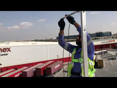 Wind Direction and Wind Speed Sensors Installation