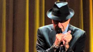 Leonard Cohen , Anthem dublin, 12-09-2013
