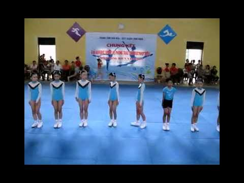 the duc aerobic  thieu nhi Q. LONG BIEN 2011