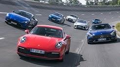 La Porsche 911 (Type 992) face à ses rivales [comparatif]
