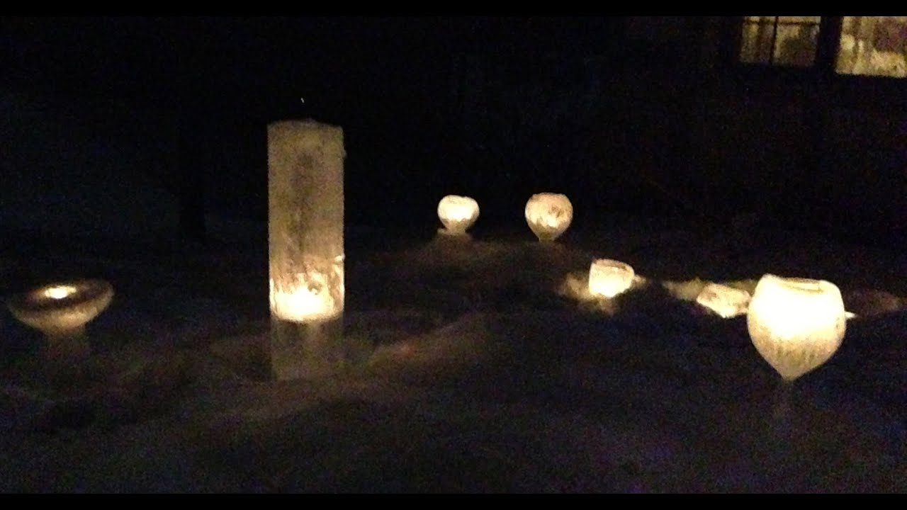 how to make an ice pillar giant ice luminary youtube. Black Bedroom Furniture Sets. Home Design Ideas