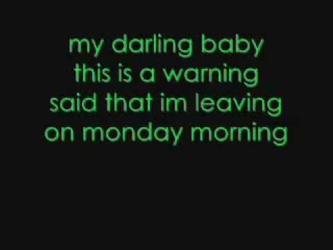 Melanie Fiona - Monday Morning (((lyrics))) HQ