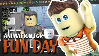 "How the Animation for Roblox Song ""Fun Day"" was Made (Behind the Scenes)"