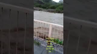 Crecida del río San Lorenzo tras la tormenta