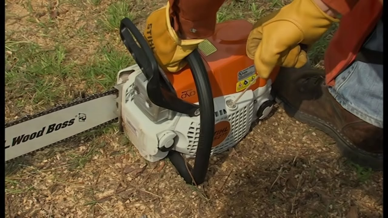 Chapter 9 Starting Your Stihl Chainsaw