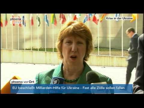 Ukraine-Krise: EU-Außenbeauftragte Catherine Ashton am 14.04.2014 I