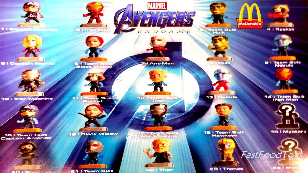 2019 Mcdonald S Marvel Avengers Endgame Happy Meal Toys