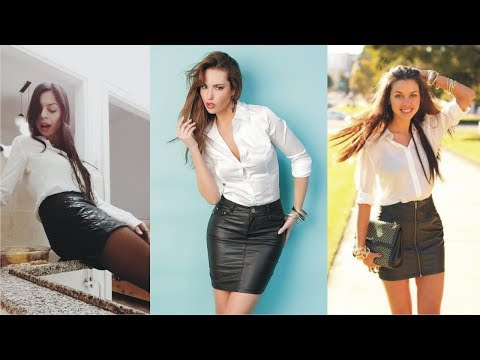 1a1e23598 Wonderful White Shirt Leather Skirt To Powering Your Activities - YouTube