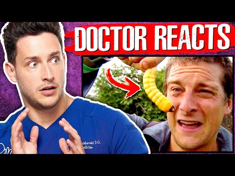 Doctor Reacts To Questionable Bear Grylls Survival Tips