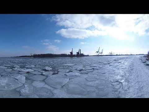 Zima w Świnoujściu #zima #panorama #świnoujście Świnoujście w sieci - eswinoujscie.pl