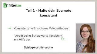 [Filterize Tutorial] • Schritt 2 • Mehr Konsistenz für deine Schlagworte in Evernote