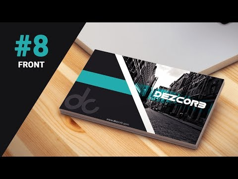 #8 How to design Business Cards in photoshop cs6 | Classy Business Card | front