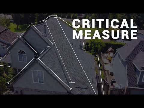 Using a drone to inspect a roof.