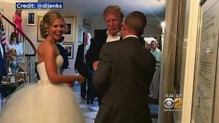 President Trump Crashes Wedding At New Jersey Golf Club