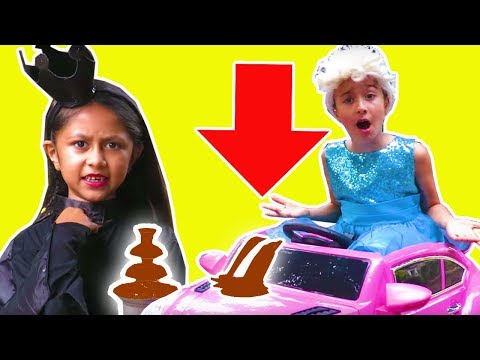 CHOCOLATE FOUNTAIN DISASTER CAR WASH PRANK Princesses In Real Life Pranks Birthday Party Water Fight