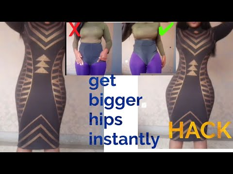 No exercise.How To Get Bigger Hips Instantly.Curvy Girl Hack thumbnail