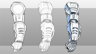 How to Draw a Robot Arm Step by Step ( Narrated )