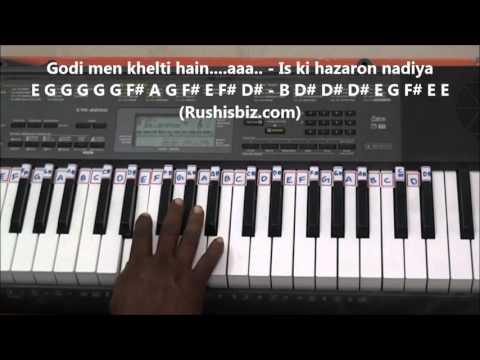 Sare Jahan Se Acha Piano Tutorials
