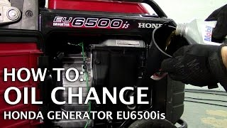 Honda Generator EU6500is | Oil Change