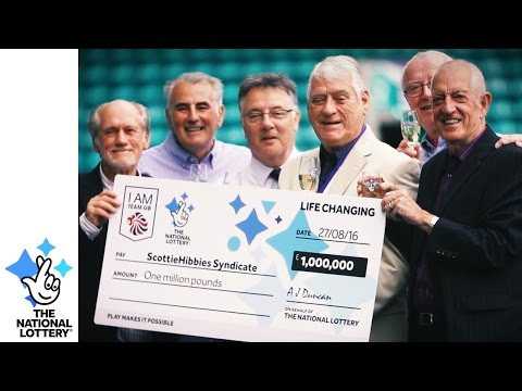 Edinburgh football fans win gold in Lotto Medal Draw