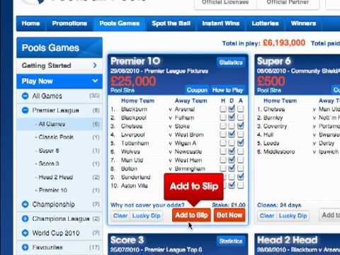 The Football Pools Guide to Submitting a Bet - Football Betting Advice