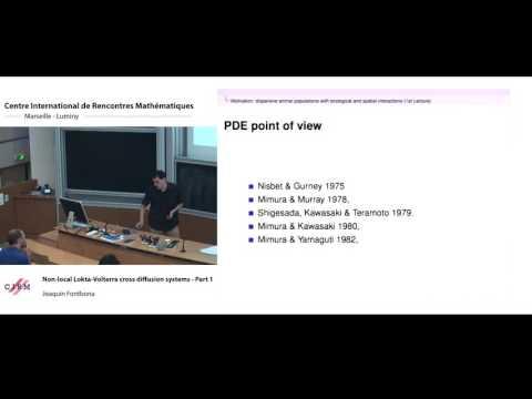 Joaquin Fontbona: Non-local Lokta-Volterra cross diffusion systems - part 1