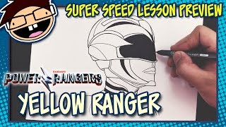 Lesson Preview: How to Draw YELLOW RANGER (Power Rangers [2017] Movie) | Super Speed Time Lapse Art