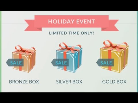 Pokemon GO Holiday Box Spending Spree! Buying Bronze, Silver & Gold Box During Holiday Event